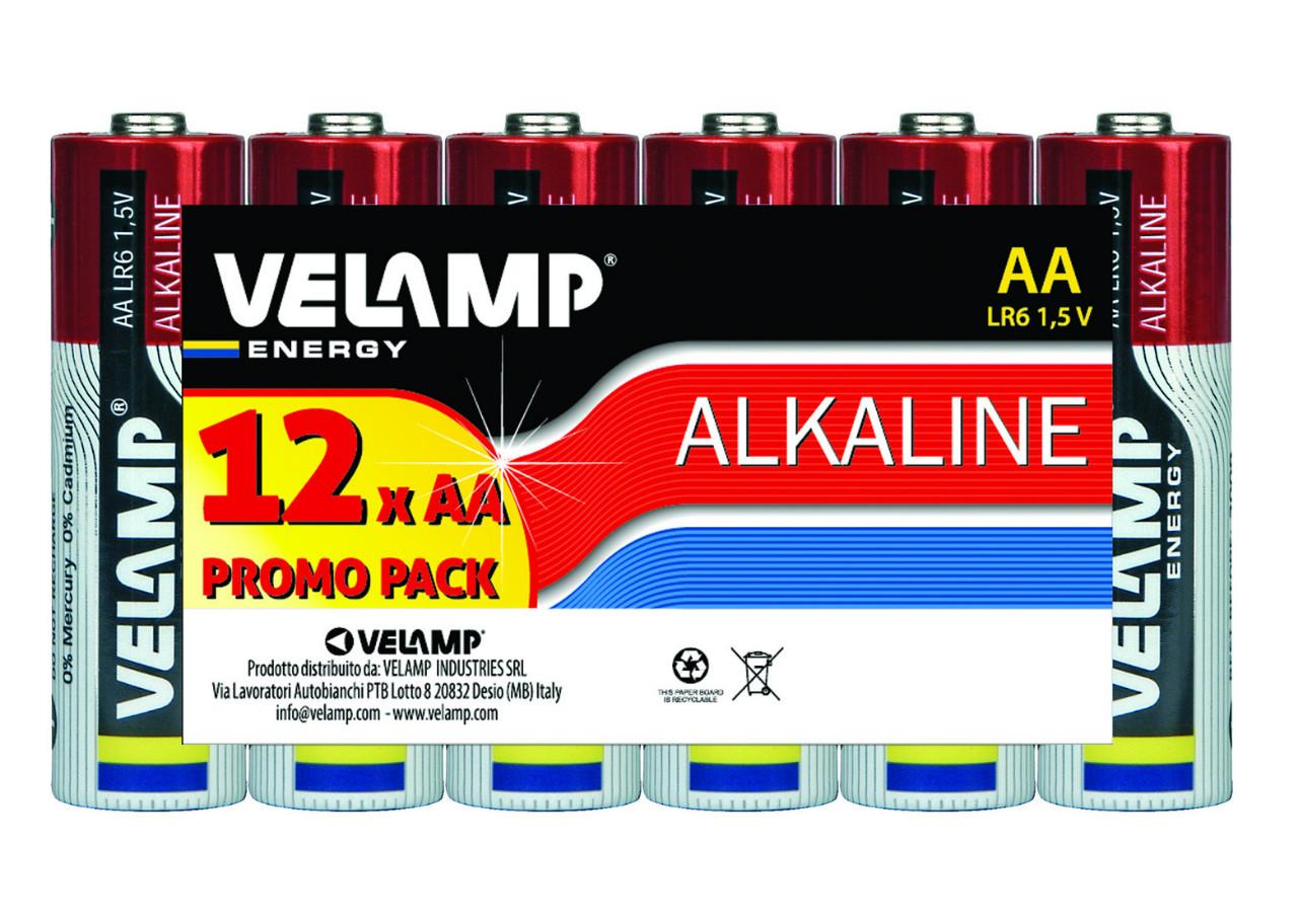 VELAMP Multibalení 12 primárních alkalických AA baterií VVLR6/12
