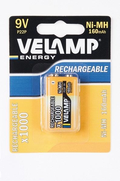 VELAMP 1x9V nabíjecí baterie VP22/1BP bal. 1ks